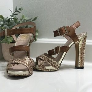 Gold & Brown Vince Camuto Heels